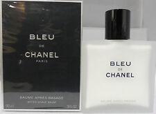 BLEU DE CHANEL BY CHANEL AFTER SHAVE BALM 90 ML/3 OZ. NIB-107110