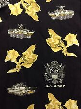 Kamp Shirt US U.S. Army Floral Hawaiian Print Size 2XL Button Down ~ EUC