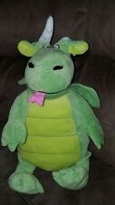 Happy Nappers Dragon Castle Pillow Green Grey Convertible Plush Toy Stuffed