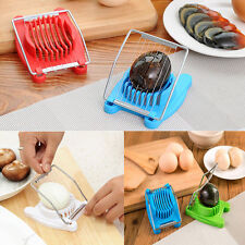 New Stainless Steel+ABS Boiled Egg Slicer Section Cutter Mushroom Tomato Cutter