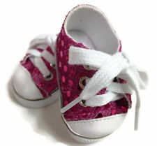 """Hot Pink Sequin Tennis Sneakers for 18"""" Doll"""