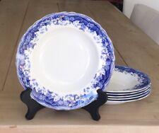 Set of 6 Antique T&R Boote Waterloo Potteries Fernwood Soup Salad Bowl Plate