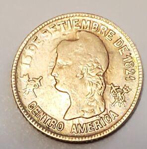 HONDURAS RARE 1 PESO GOLD COMMEMORATIVE 1871