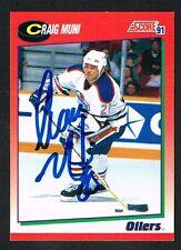 Craig Muni #67 signed autograph 1991-92 Score Hockey Canadian Release Card