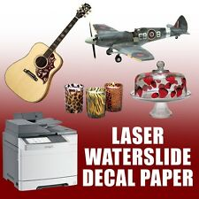 Waterslide Decal Paper Premium Laser 30 Sheets Mixed 15 White 15 Clear :)