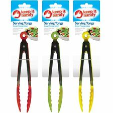 """10"""" Plastic Salad Tongs Kitchen BBQ Utensils Cooking Catering Serving Kitchen"""