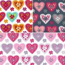 100% Cotton Poplin Fabric Rose & Hubble Floral Love Hearts Ditsy Daisies