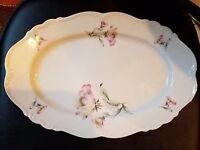 "Edelstein, Bavaria IRISH ROSE Maria Theresia Oval Serving Plate  13"" 21615"