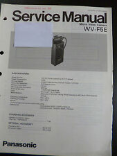 Original Service Manual  Panasonic Micro Video Camera WV-F5E