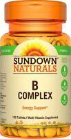 Sundown B-Complex Tablets Energy support multivitamin 100 ct