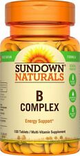 Sundown B-Complex Tablets Energy support multivitamin 100 ct