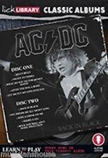 LICK LIBRARY Impara a Suonare AC/DC Classic Albums BACK IN BLACK lezione di chitarra dvd