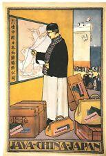 US Seller- Java China Japan vintage travel ad poster decorate bedroom walls