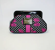 Betseyville by Betsey Johnson White Polka Dot on Black Pink Bow New BV19585-BLK