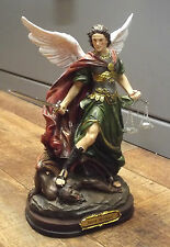 ARCHANGE SAINT MICHEL MICHAEL DEFENSEUR VAINQUEUR STATUETTE RESINE DECO ANTIQUE