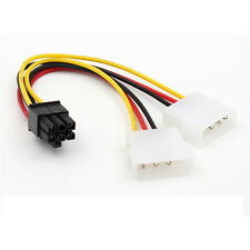ATX IDE Molex Power Dual 4 To 6-Pin PCIe PCI Express Video Card Adapter Cable