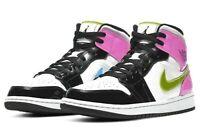 Nike Air Jordan 1 Mid Shoes White Black Cyber Pink CZ9834-100 Mens Size 10.5 New