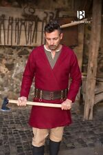 Medieval Vikings Flap Skirt Coat Wool /Larp - Red from Burgschneider
