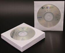 10 VERBATIM 52X Blank CD-R CDR Logo Branded 700MB Media Disc W/ 80G Paper Sleeve