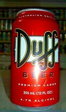 Collectable beer cans - Duff 355ml / 12 fl oz can (Australian Release)