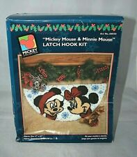 New listing Rare Vintage Mickey Mouse & Minnie Mouse Latch Hook Kit. Christmas. New