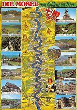 BG12499 die mosel von koblenz bis trier map cartes geographiques  germany