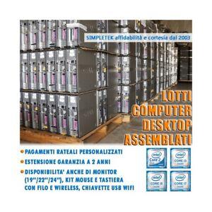 LOTTO STOCK COMPUTER DESKTOP DUAL CORE I3 I5 I7 ASSEMBLATI RICONDIZIONATI NUOVI.