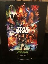 Disney Star Wars Galactic Nights 2017 Celebration Exclusive Poster Limited