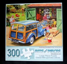 """Bits and Pieces 300 large pc. puzzle """"Washing Grandpa's Car"""""""