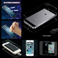 Film Premium Tempered Glass Screen Protector Glass For Apple iPhone Front / Back