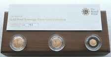 2012 Great Britain Sovereign Gold Proof 3 Coin Set Box Coa - Mintage 700
