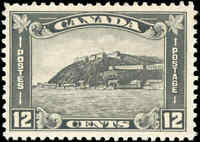 1930 Mint H Canada F-VF Scott #174 12c King George V Arch/Leaf Stamp