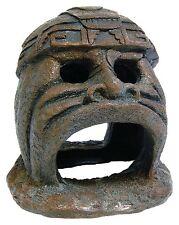 Mayan Hideaway Statue Aquarium Head Fish Cave Ornament Fish Tank Decoration