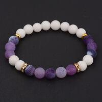 New Women's Yoga Multi-color Bead Charm Agate Stretch Lovely Fashion Bracelets