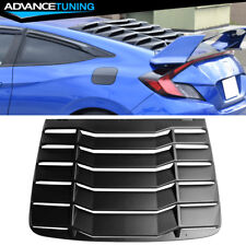 Fits 16-18 Honda Civic 2DR Coupe Rear Window Louvers