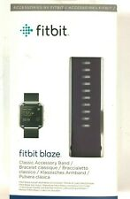 Genuine Fitbit Replacement Band BLAZE Accessory Classic Leather Plum Large NEW
