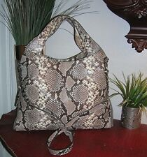 nwt Michael Kors Devon Python Embossed Large Handbag Shoulder Tote Bag Purse new