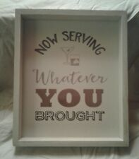 """Wooden Drink sign, 12 X 10 X 1""""1/4, Very Cute"""