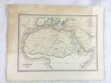 1846 Antique Map of Ancient Africa Classical Antiquity Hand Coloured Engraving