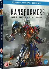 TRANSFORMERS AGE OF EXTINCTION 3D Blu ray + Blu ray SEALED/NEW  Film/Miovie 3 D