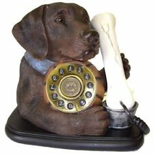 Telephone Chocolate Labrador Dog & Bone Phone Steepletone Table Top Landline
