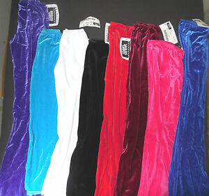 Jazz Pants Velvet Spandex Bootcut Dance Drill Pageant Costume chil/adult MIdrise