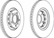 Ferodo DDF1706C Front Axle Vented Coated Brake Disc Set Replaces 4A0615301C