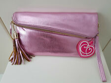 Ladies Pink Claudia Canova Clutch Bag New With Tags