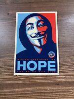 "SHEPARD FAIREY Obey Giant Large Format Official Vinyl Art Sticker ""Hope"""