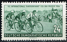 Germany Bicycle Peace Race stamp 1954 MLH
