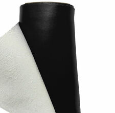 BLACK FAUX HEAVY LEATHER Fabric Leatherette Material Leathercloth Flameproof