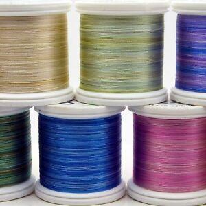 YLI Variegated Silk Thread 100wt on 200 meter spools   Choose Color