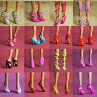 10 Pairs Party Daily Wear Dress Outfits Clothes Shoes For Barbie Doll Gift Cute
