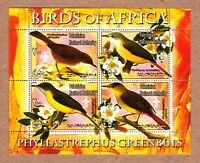 GREENBUL - Birds of Africa MNH VF Minisheets of 4 q50